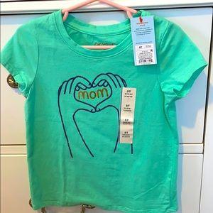 Green mom toddler T-shirt